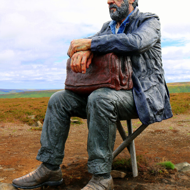 """The Seated Man, Castleton Rigg, North Yorkshire"" stock image"