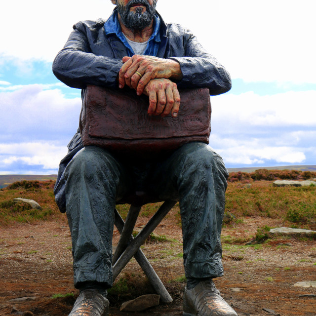 """""""The Seated Man, Castleton Rigg, North Yorkshire"""" stock image"""