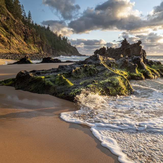 """Anson Bay, Norfolk Island"" stock image"