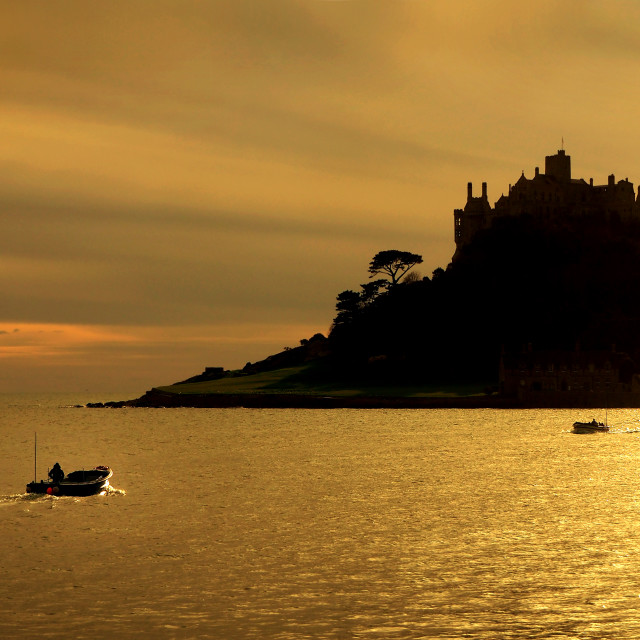 """St. Michaels Mount, Marazion, Cornwall, UK"" stock image"