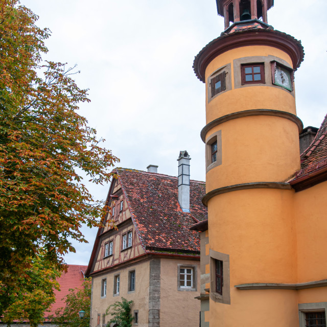 """Hegereiter house in Old Quarter of Rothenburg Ob Der Tauber"" stock image"