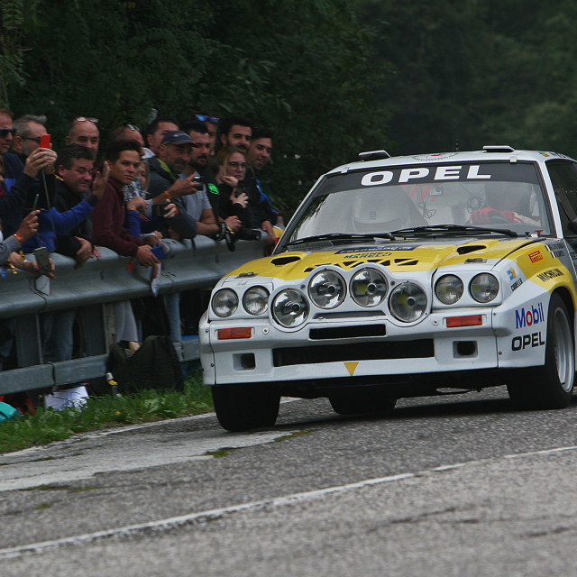 """The Group B Opel Manta. Classic Rally car of the 80s"" stock image"