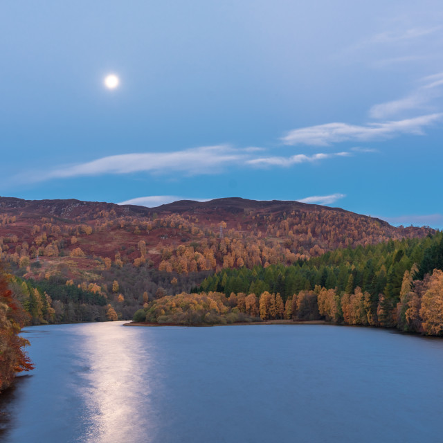 """""""The Dam above Pitlochry"""" stock image"""