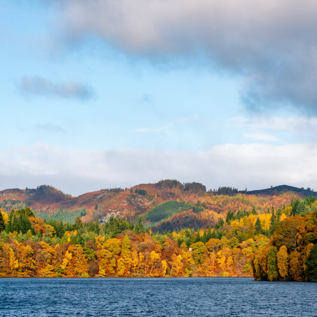 """""""Lake above Pitlochry"""" stock image"""