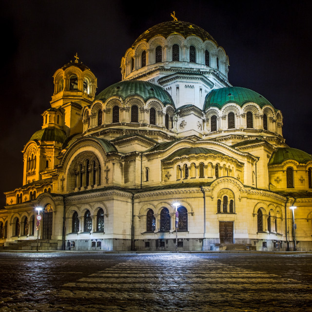 """Alexander Nevski Cathedral in Sofia, Bulgaria."" stock image"