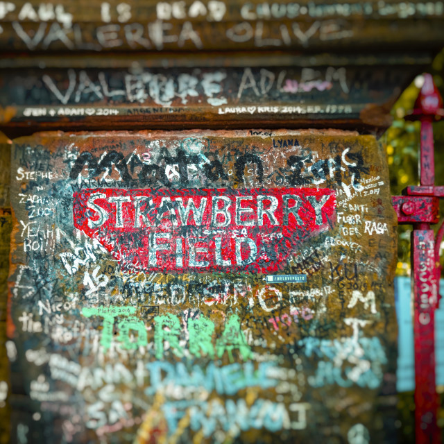 """The Strawberry Field Gates made famous by The Beatles"" stock image"