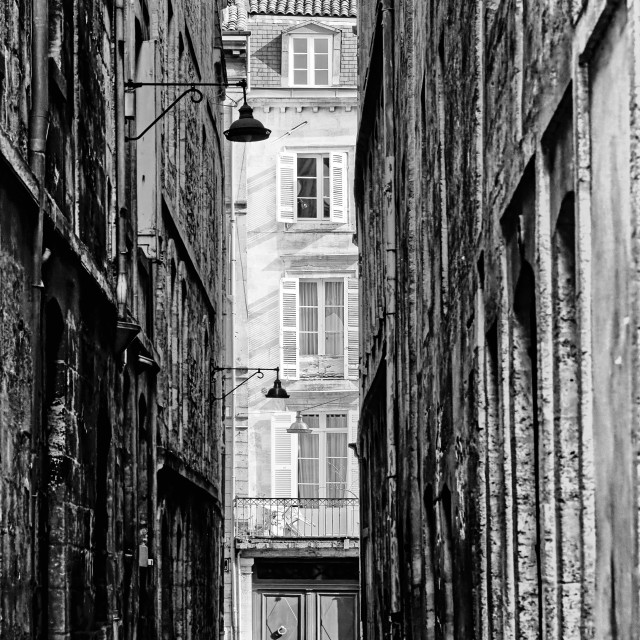 """Narrow street"" stock image"