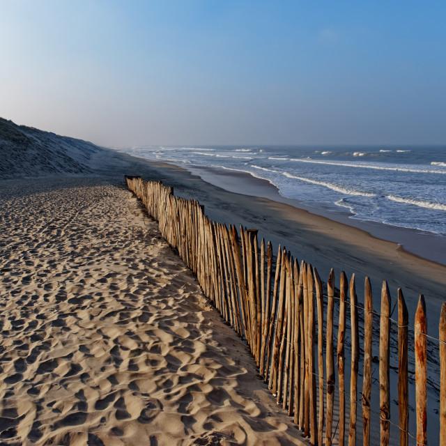 """Carcans beach"" stock image"