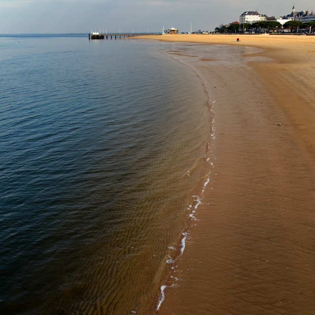 """Arcachon beach"" stock image"