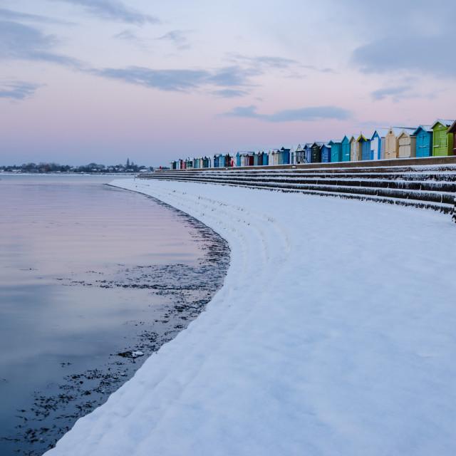 """Snow on the beach"" stock image"