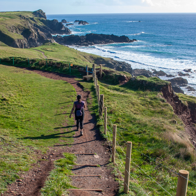 """South West Coast Path, Cornwall, England"" stock image"