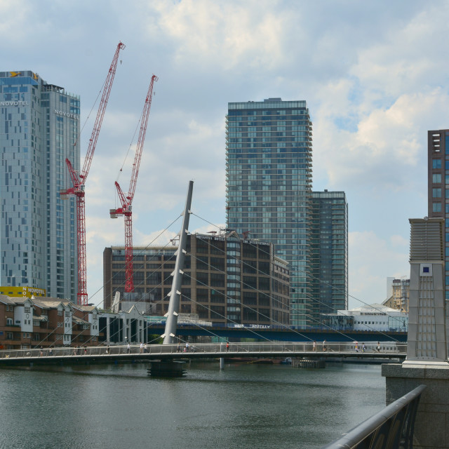 """A walk around docklands"" stock image"