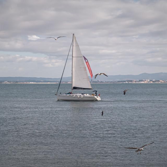 """Lisbon waterfront"" stock image"