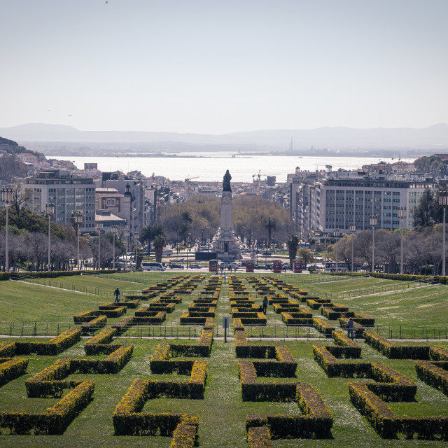 """Parque Eduardo VII"" stock image"