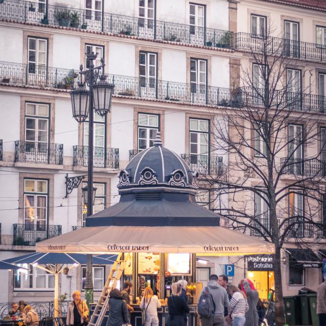 """""""Dusk in Lisbon"""" stock image"""