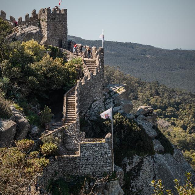 """Castelo dos Mouros"" stock image"