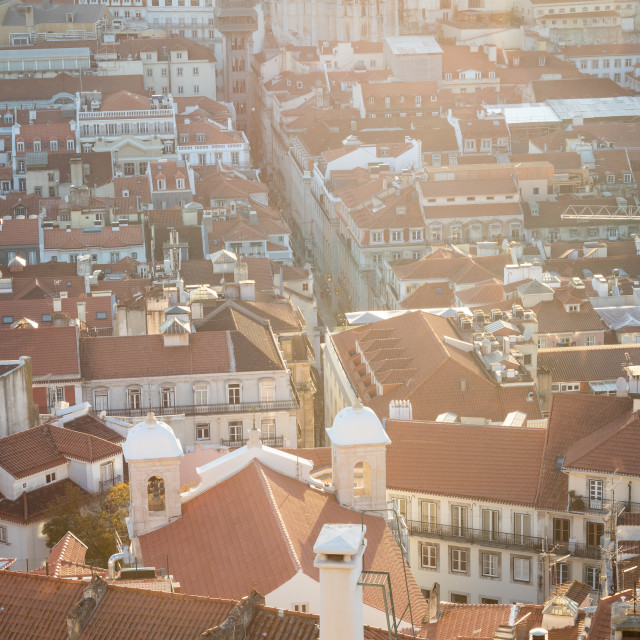 """Downtown Lisbon"" stock image"
