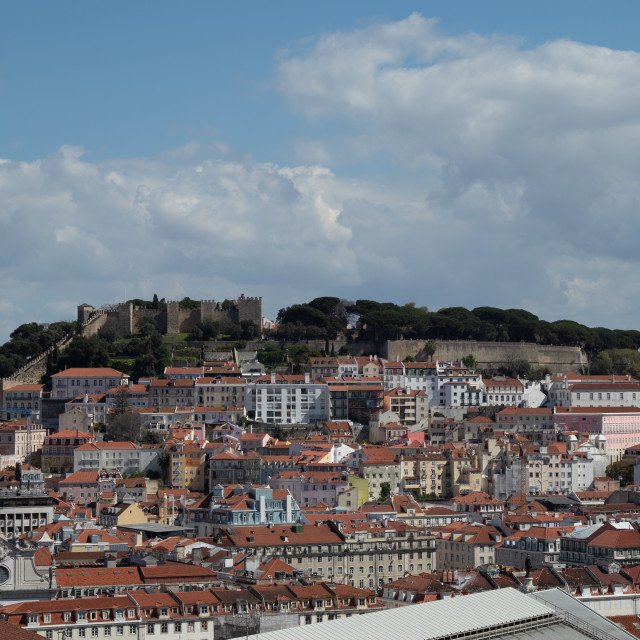"""Castelo de St Jorge"" stock image"