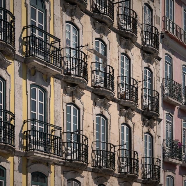 """Balconies in Lisbon"" stock image"