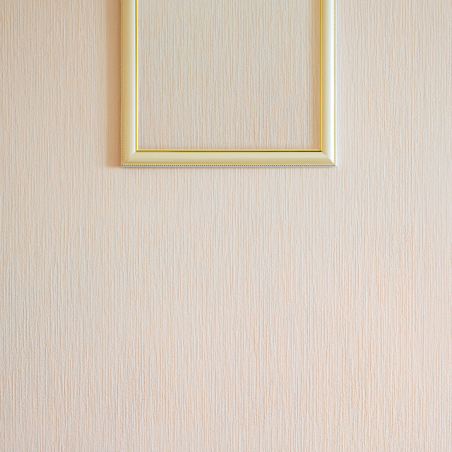 """""""A true modern photo frame with gold ornaments and blank copy spa"""" stock image"""