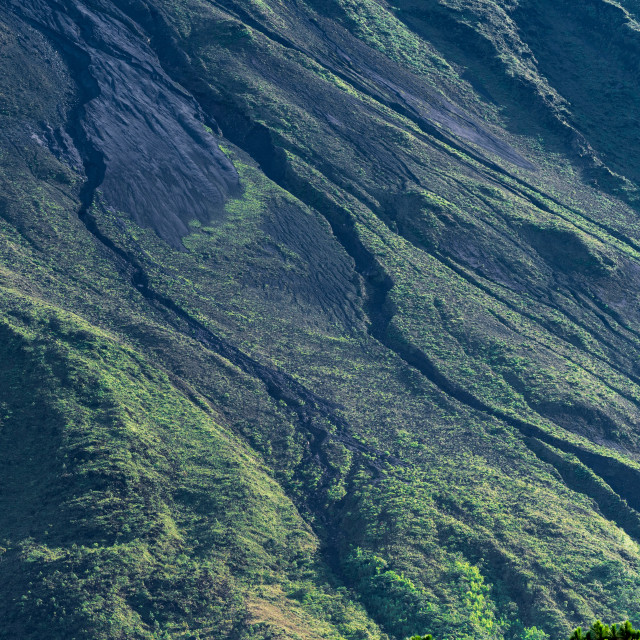 """""""A close view fo the side of Arenal Volcano"""" stock image"""