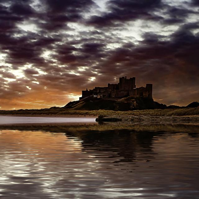 """""""Bamburgh Castle, Northumberland."""" stock image"""