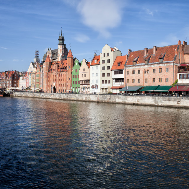 """""""Gdansk Old Town Skyline River View"""" stock image"""