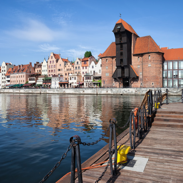 """""""Picturesque City of Gdansk in Poland"""" stock image"""