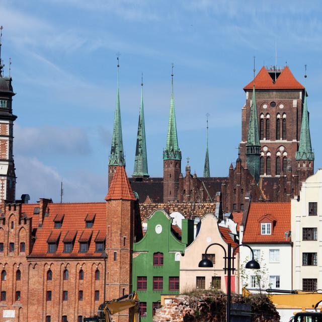 """Gdansk Old Town Skyline"" stock image"