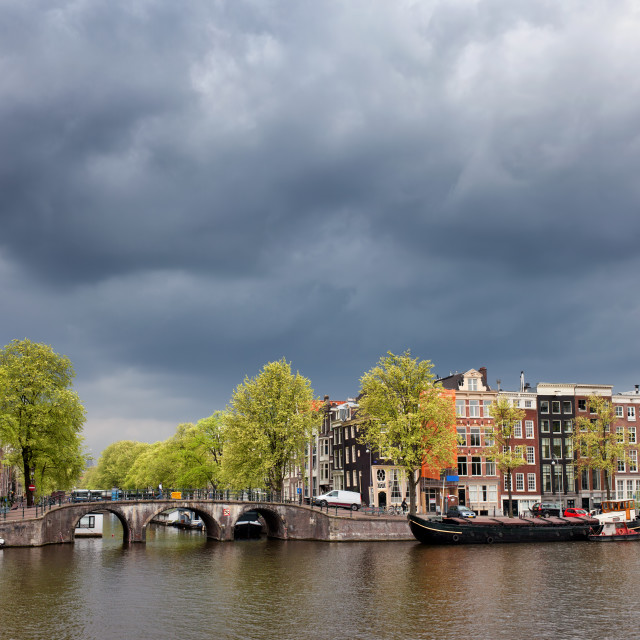 """""""City Skyline of Amsterdam in Holland"""" stock image"""