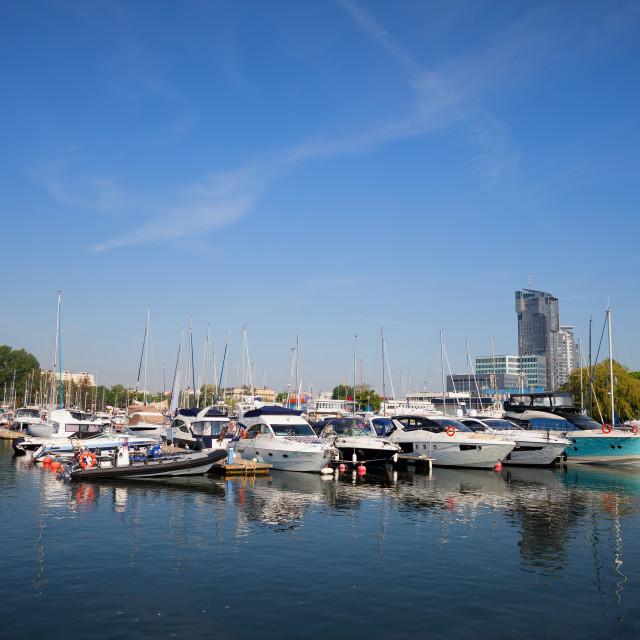 """City of Gdynia Marina in Poland"" stock image"