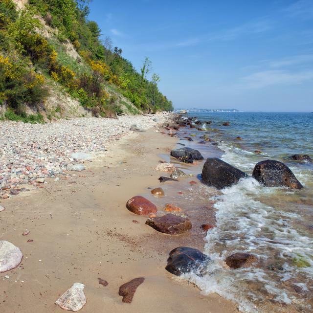 """Baltic Sea Shore in Gdynia"" stock image"