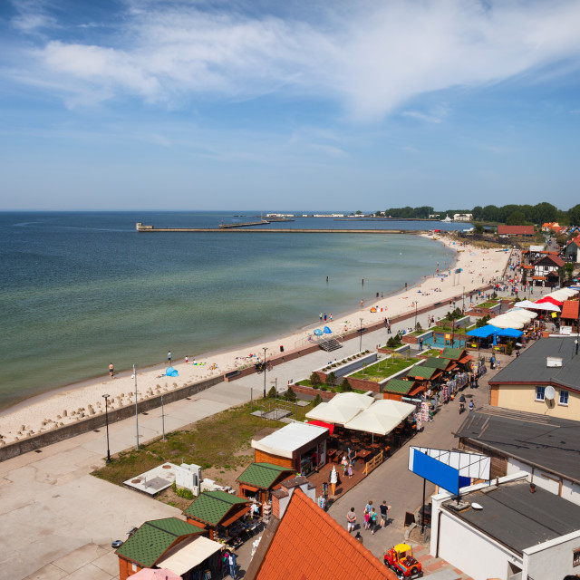 """""""Resort Town of Hel in Poland at Baltic Sea"""" stock image"""