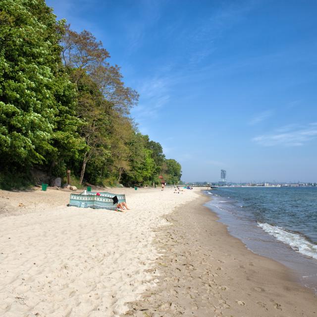 """Beach in Gdynia Redlowo"" stock image"