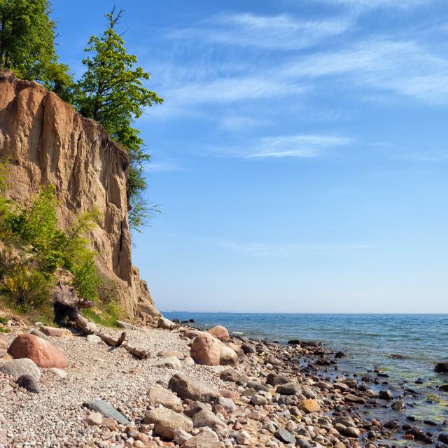 """Orlowo Cliff in Gdynia at Baltic Sea"" stock image"