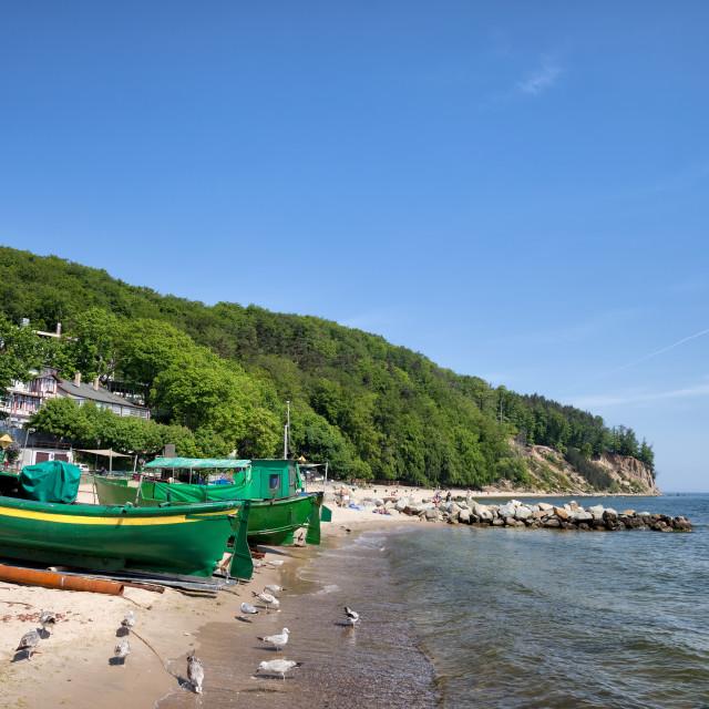 """Gdynia Beach and Coastline in Poland"" stock image"