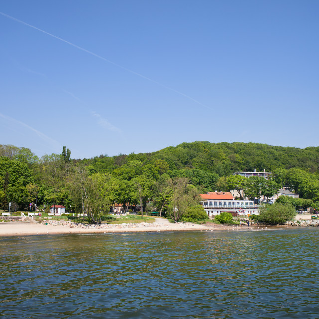 """Gdynia Coastline at Baltic Sea"" stock image"