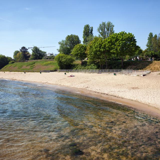 """""""Beach in Gdynia Orlowo"""" stock image"""