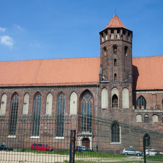 """St. Nicholas Church in Gdansk"" stock image"