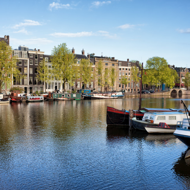 """""""Amsterdam River View"""" stock image"""