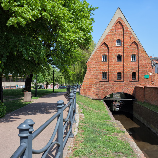 """""""Small Mill in Gdansk"""" stock image"""