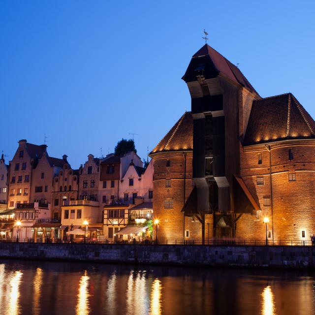 """Gdansk by Night"" stock image"