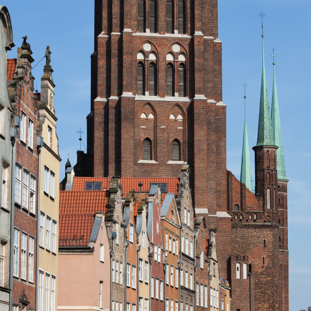 """""""Old Town of Gdansk in Poland"""" stock image"""