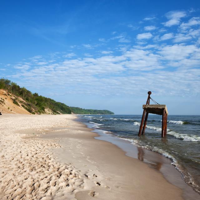 """Baltic Sea Beach and Coast in Poland"" stock image"