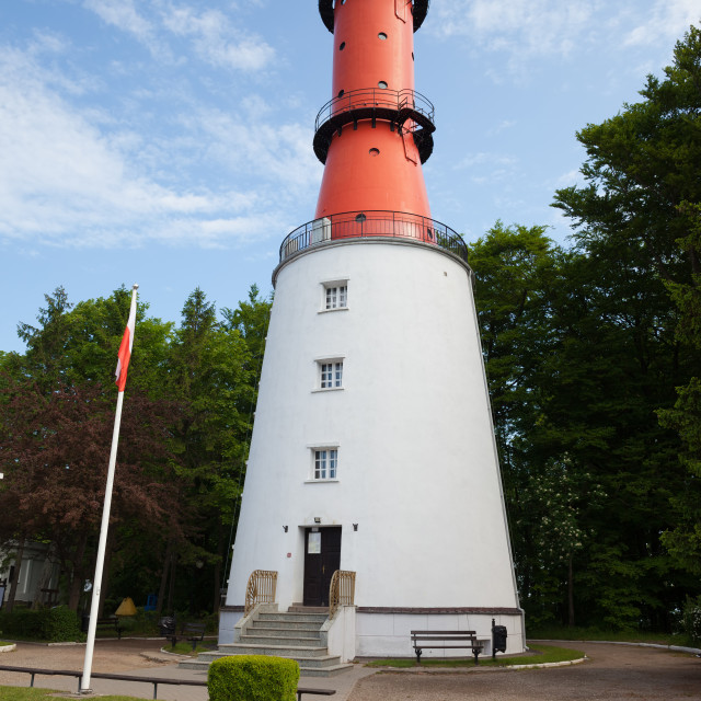 """""""Rozewie Lighthouse in Poland"""" stock image"""