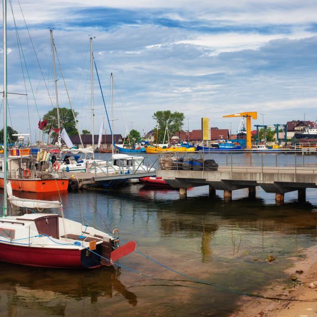 """Jastarnia Port in Poland"" stock image"