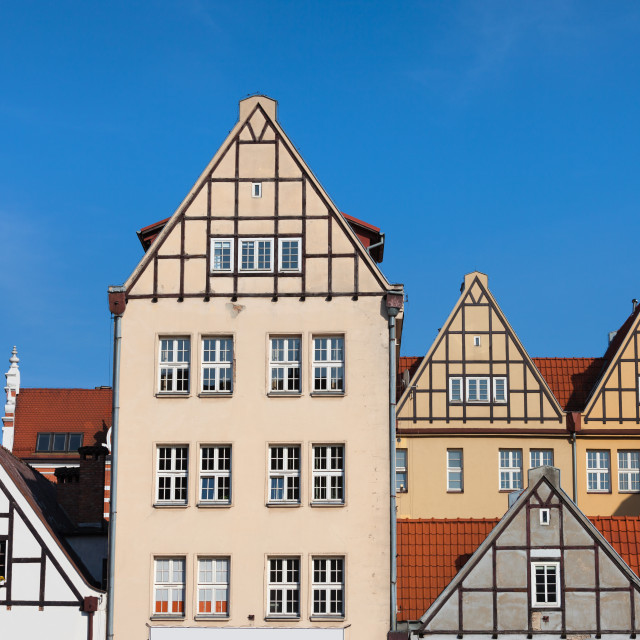 """""""Renovated Old Granaeries in Gdansk"""" stock image"""