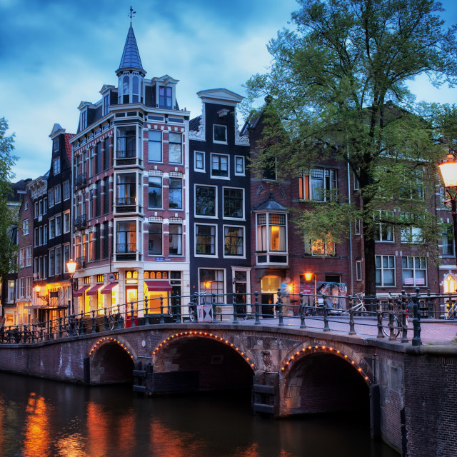 """Amsterdam at Twilight"" stock image"
