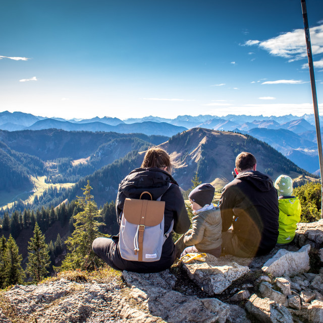 """picnic on mountain top"" stock image"