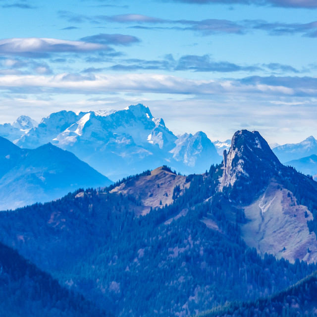 """distant view to the Zugspitze"" stock image"